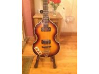 Left handed violin bass guitar