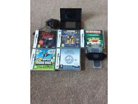 BLACK NINTENDO DS LITE with 6 Games and charger