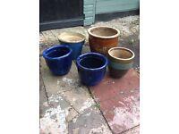 Patio garden pots