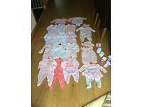 Newborn first size baby girl bundle excellent con, summer outfit 0-1 month next,H&M, mothercare,