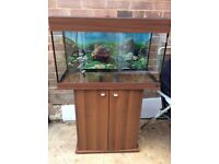 Ferplast Dubai 80 fish tank and stand.