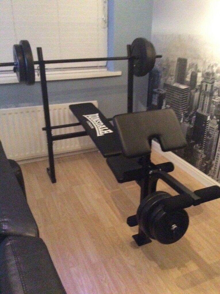 weight bench press with 50kg of weights immaculate condition