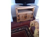 Oak Corner TV+DVD Cabinet