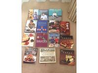 Cook books Jamie Oliver river cottage etc
