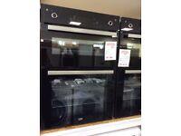 Beko electric double oven soft close doors RRP £479