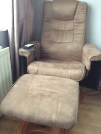 massage reclainer chair with stool
