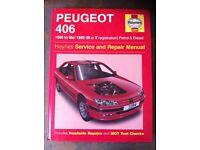 Haynes Manual For Peugeot 406, 96-99