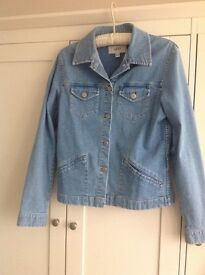 NEXT light blue denim ladies jacket size 12