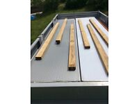 Acrylic opaque 6 ply roof sheets and aluminium roof joists