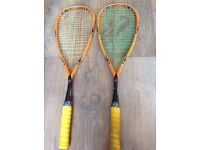 2 Climax X-Rated Pro Squash Rackets