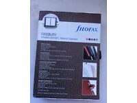Filofax. Finsbury black grained leather personal organiser