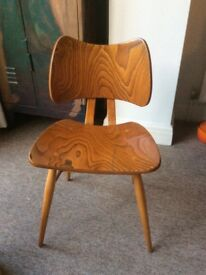 Retro chairs, 2 original Ercol Butterfly chairs, in need of repair