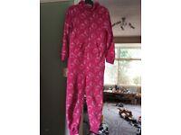 Girls pink onesie age 9-10