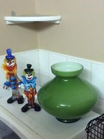 MURANO 1960s BLOWN GLASS CLOWNS AND VASE LOVELY COLLECTABLE PIECES