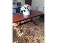 Polished dining table