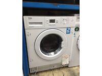 Beko inteergrated washing machine. 6.5 kg. 12 month Gtee