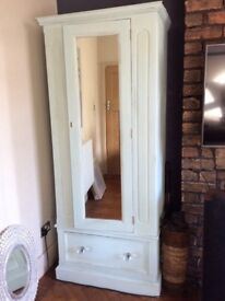 Duck egg blue painted wardrobe...