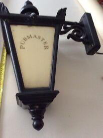 Vintage cast iron wall lantern