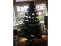 Christmas Tree 6' green spruce with stand, detaches in layers, boxed