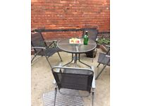 Garden table and chairs set - just £25 to clear - must go today!