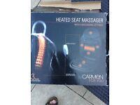 Heated seat massager