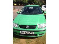VW Polo 1 Litre,green,3 door hatchback,ideal first car,cheap insurance,MOT August ,lots of history