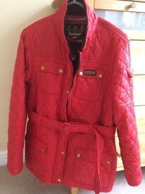 Barbour ladies jacket size l