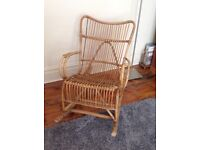 Cane Rocking Chair in the style of Franco Albini