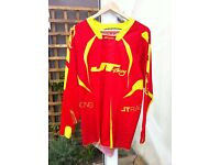 JT RACING - EVO PROTEK FADER RED/YELLOW JERSEY (SIZE M) MOUNTAIN BIKE