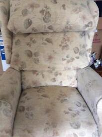 Electric reclining arm chair
