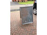 Large heavy duty advertising board