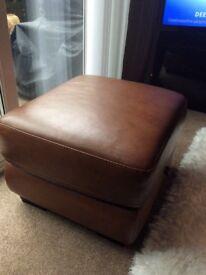 Dfs brown storage footstool