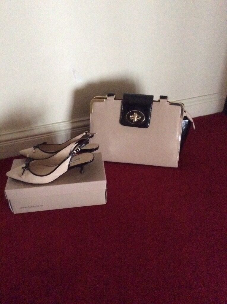 Dune shoes & handbag Excellent condition Size 6