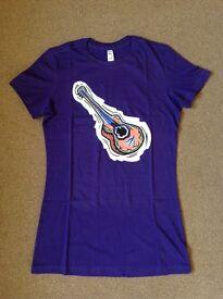 New Purple Guitar T-Shirt Size Medium, Slim Fit