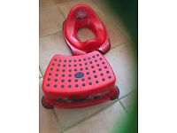 Lightning McQueen toilet training step and seat.
