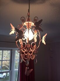 Next Pink butterfly lampshade