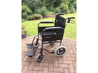 Roma 1232TR wheelchair.Detachable foot rests , folds up for transportation.