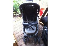 GRACO PUSHCHAIR BUGGY , PRAM , CARRYCOT , RAIN COVER SWIVEL WHEELS