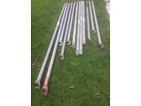 Assorted alloy tower poles