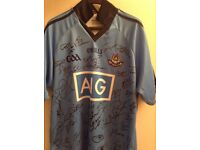 Sports wear Dublin GAA jersey for sale signed by all players