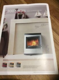 Wood burning stove inset style Esse 350 series stainless steel front
