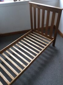 Wooden Mothercare toddler/ junior bed in vg condition