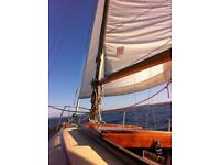 Wooden classic sailing yacht