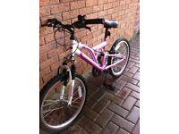 kids mountain style bike (pink/white) age 6-9