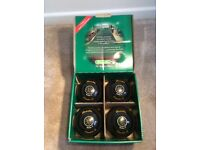 Henselite Lawn Bowls - Set of 4 in original box - with handy carrier