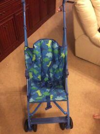 Mothercare dinosaur blue / green stroller / pushchair