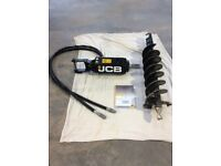 Mini Digger Genuine JCB Hydraulic Auger, Earth Drill, Post Borer, Post Auger, in as new condition