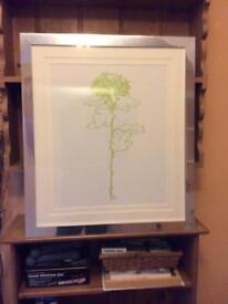 Modern Framed Lime Green Tree Print