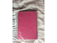 "Universal Folio Leather Flip Case Cover For Android Tablet PC 7"" inch - 8"" inch Bling Diamond Pink"