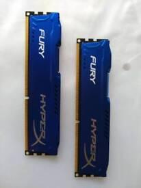 Kingston Hyper X Fury 2x4GB 1600 MHz DDR3